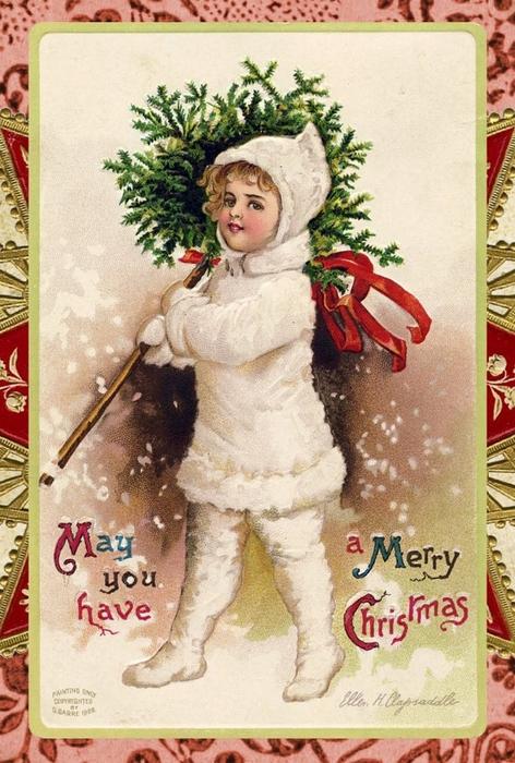 Винтажные картинки и идеи для создания подвесок, тэгов и рождественских гирлянд (6) (472x700, 296Kb)