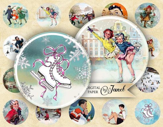 Винтажные картинки и идеи для создания подвесок, тэгов и рождественских гирлянд (27) (570x445, 237Kb)