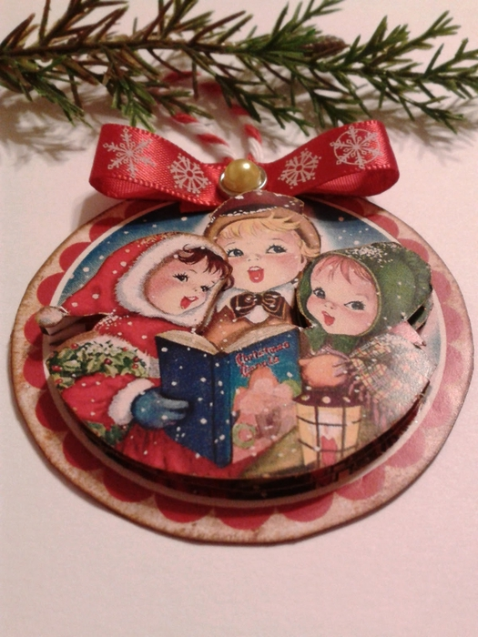 Винтажные картинки и идеи для создания подвесок, тэгов и рождественских гирлянд (37) (525x700, 276Kb)