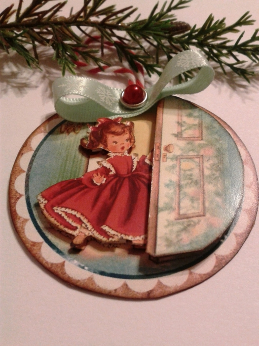 Винтажные картинки и идеи для создания подвесок, тэгов и рождественских гирлянд (39) (525x700, 265Kb)