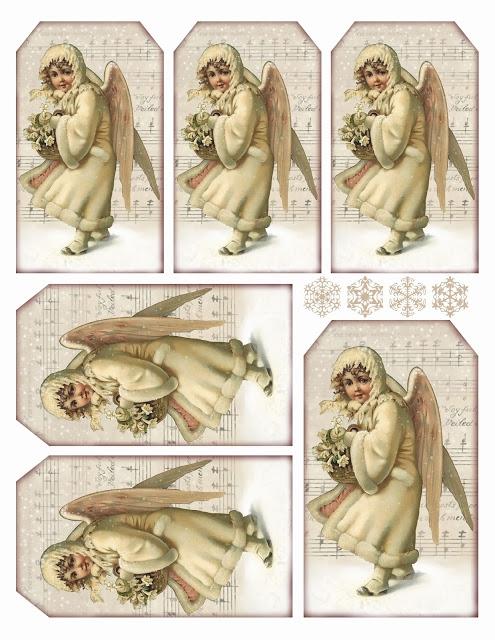Винтажные картинки и идеи для создания подвесок, тэгов и рождественских гирлянд (43) (495x640, 246Kb)