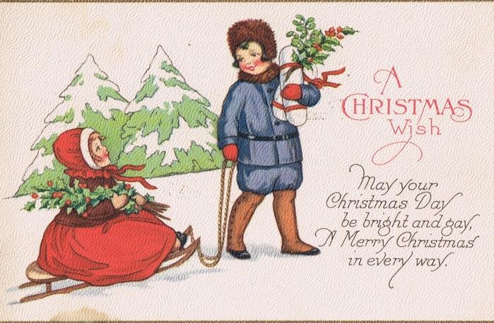 Винтажные картинки и идеи для создания подвесок, тэгов и рождественских гирлянд (50) (700x458, 316Kb)