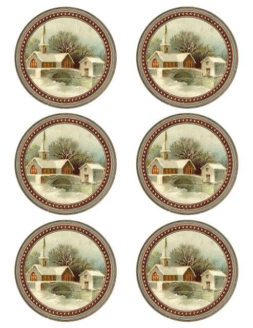 Винтажные картинки и идеи для создания подвесок, тэгов и рождественских гирлянд (51) (494x640, 294Kb)