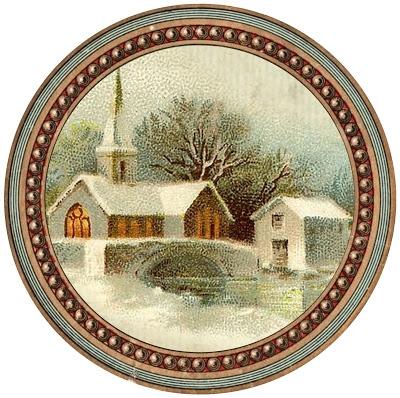 Винтажные картинки и идеи для создания подвесок, тэгов и рождественских гирлянд (52) (400x398, 173Kb)