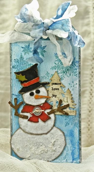 новогодний тэг со снеговиком (1) (381x700, 230Kb)