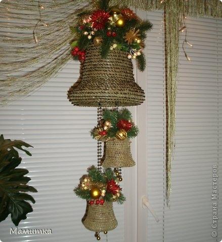 Плетение из сосновых иголок от Мамитка. КОЛОКОЛЬЧИКИ (19) (439x480, 129Kb)