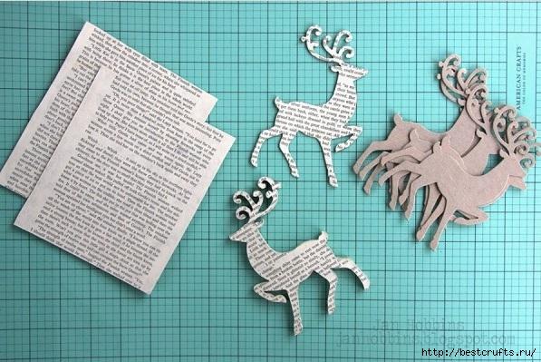Сказочная карета и Северные олени из картона и бумаги (1) (597x399, 199Kb)