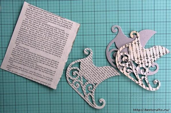 Сказочная карета и Северные олени из картона и бумаги (3) (597x395, 209Kb)