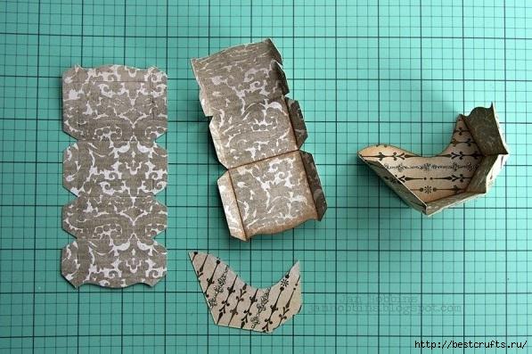 Сказочная карета и Северные олени из картона и бумаги (5) (597x397, 183Kb)