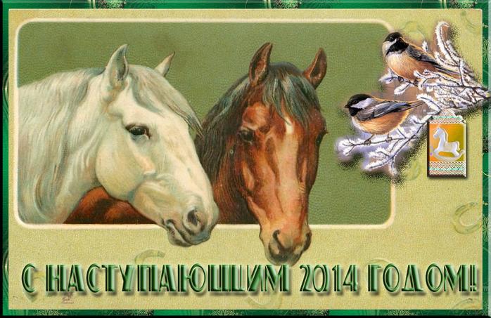 Старинные открытки с лошадьми 90