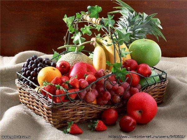 корзина с фруктами (600x450, 213Kb)