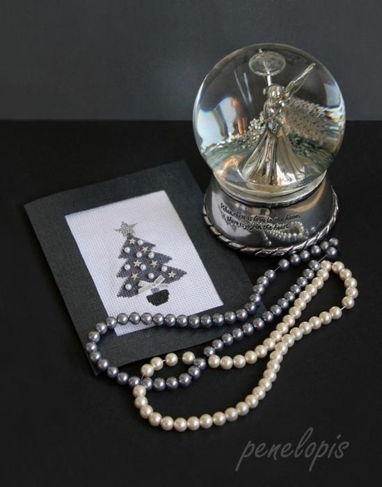 Рождественская вышивка. Елочка, снежинка и сапожок (3) (549x700, 247Kb)