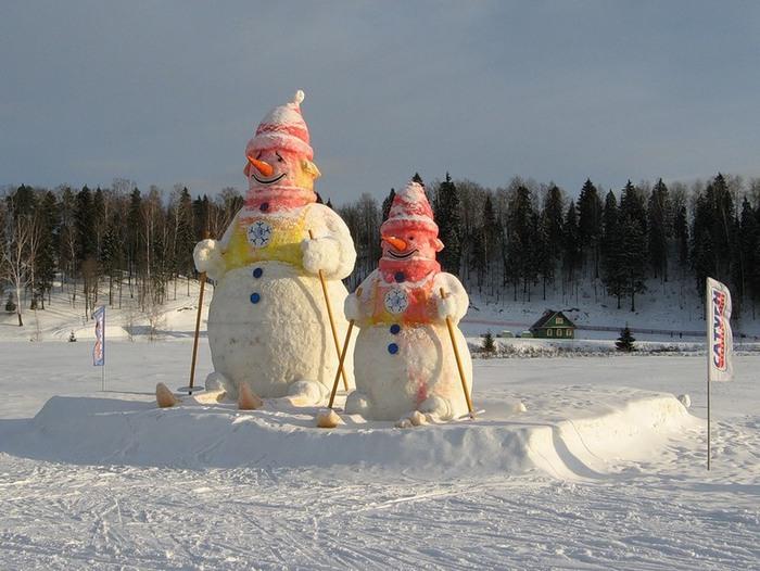 Конкурс снеговиков из снега