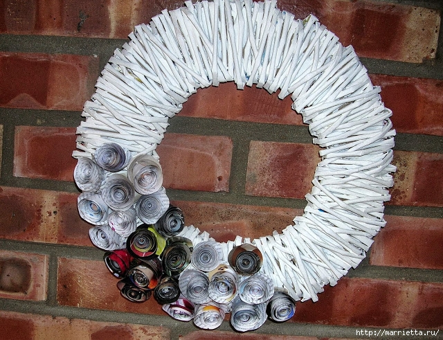 Новогоднее плетение из газет. ЗВЕЗДЫ из газетных трубочек (1) (640x491, 346Kb)