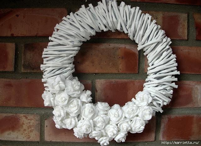 Новогоднее плетение из газет. ЗВЕЗДЫ из газетных трубочек (3) (640x467, 257Kb)