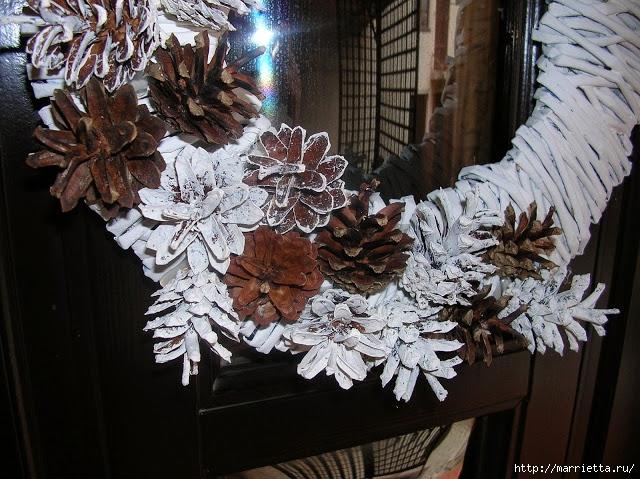 Новогоднее плетение из газет. ЗВЕЗДЫ из газетных трубочек (12) (640x479, 281Kb)