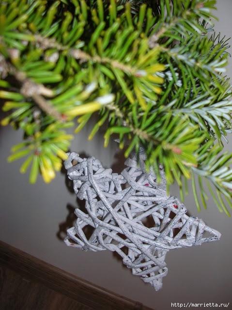 Новогоднее плетение из газет. ЗВЕЗДЫ из газетных трубочек (25) (479x640, 217Kb)