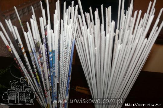 Новогоднее плетение из газет. ЗВЕЗДЫ из газетных трубочек (67) (540x360, 136Kb)
