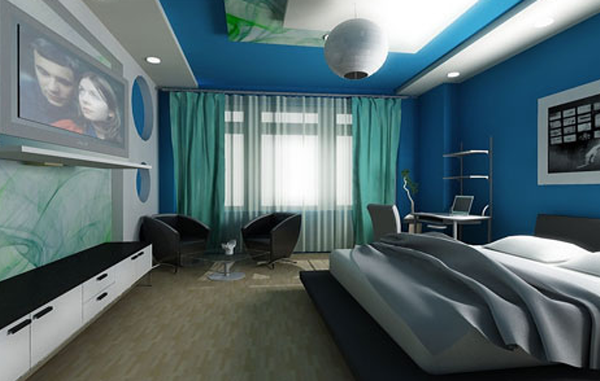 дизайн комнаты для молодого человека фото салон
