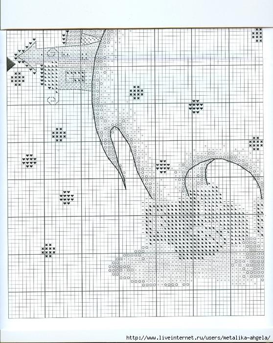 Схема вышивки зимние сны