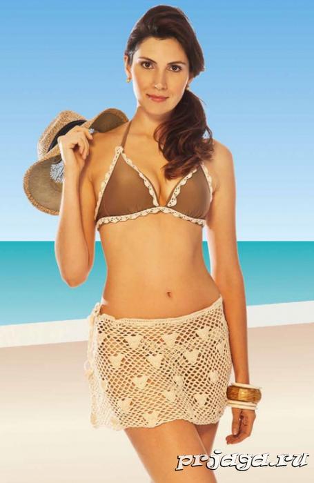 Пляжная юбка крючком с