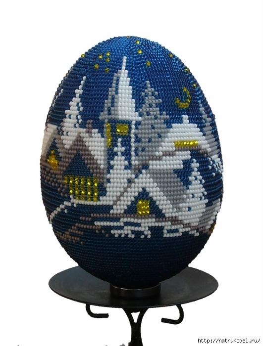 """Пасхальное яйцо из бисера """""""