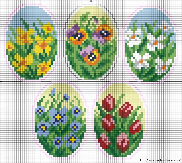 Бисерные цветочные пасхальные яйца (1) (700x629, 481Kb)