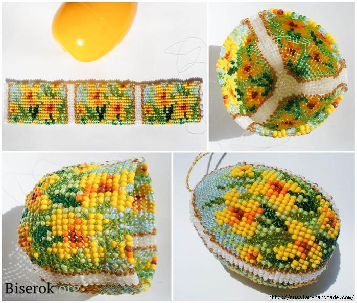 Бисерные цветочные пасхальные яйца (7) (700x593, 345Kb)