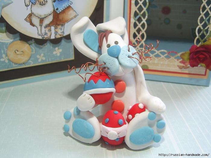 Как слепить кролика из полимерной глины. Фото мастер-класс (12) (700x525, 245Kb)