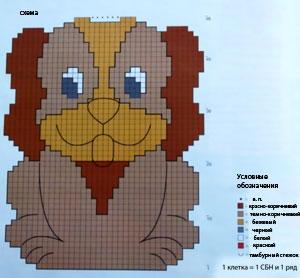 Вязание крючком. ВЕСЕЛЫЕ ПРИХВАТКИ (6) (300x278, 57Kb)