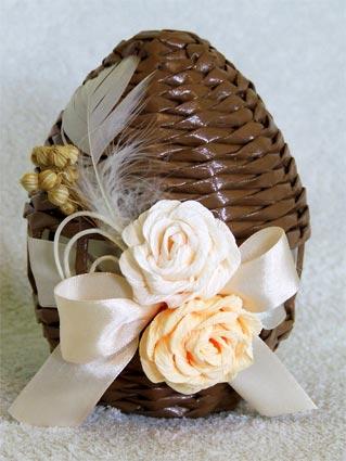 Пасхальные яйца из газетных трубочек. Идеи и мастер-класс (1) (319x425, 118Kb)