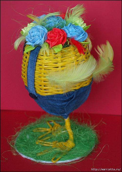 Пасхальные яйца из газетных трубочек. Идеи и мастер-класс (48) (499x700, 277Kb)