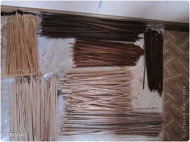 в какой марилке красить бумажные трубочки для плетения