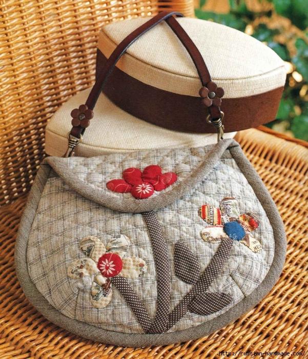 пэчворк. Шьем маленькую сумочку (1) (601x700, 453Kb)