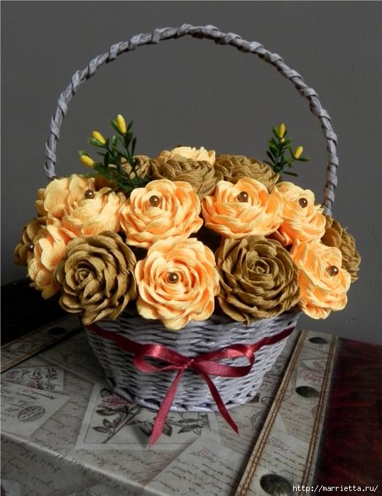 цветы из гофрированной бумаги (4) (538x700, 275Kb)