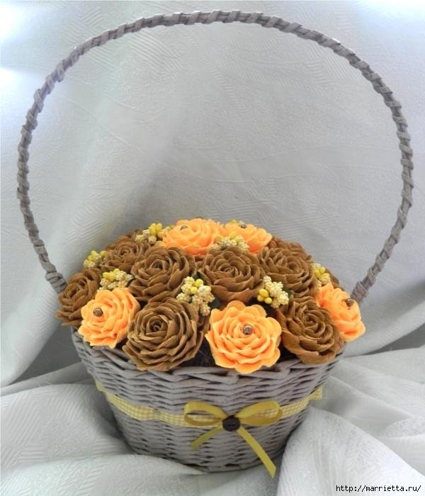 цветы из гофрированной бумаги (8) (600x700, 240Kb)