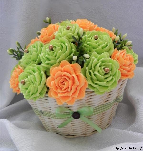 цветы из гофрированной бумаги (12) (600x630, 214Kb)