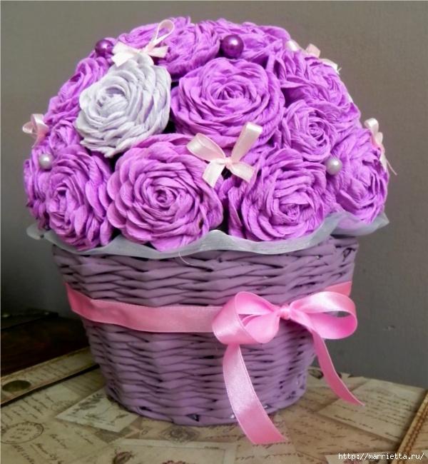 цветы из гофрированной бумаги (14) (600x650, 239Kb)