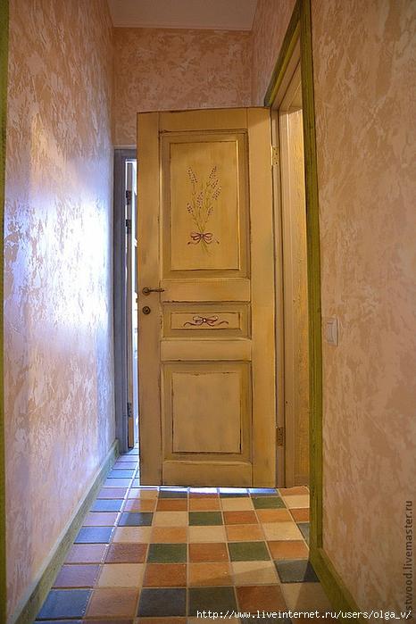 Покрасить дверь в стиле прованс своими руками