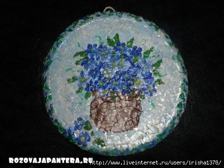 Мозайка из яичной скорлупы