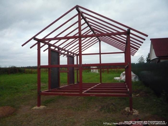 Каркасный дом из метала