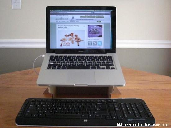 Из картона. Подставка для охлаждения ноутбука. Своими руками (1) (550x412, 116Kb)