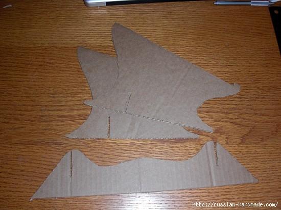 Из картона. Подставка для охлаждения ноутбука. Своими руками (3) (550x412, 140Kb)