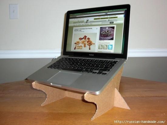 Из картона. Подставка для охлаждения ноутбука. Своими руками (5) (550x412, 104Kb)