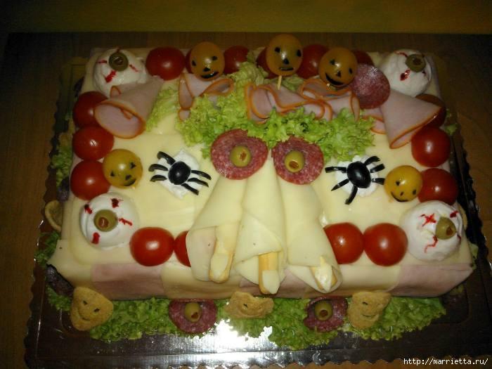 Соленый закусочный торт. Идеи оформления к ПАСХЕ (4) (700x525, 174Kb)