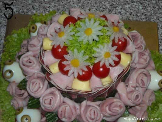 Соленый закусочный торт. Идеи оформления к ПАСХЕ (42) (533x400, 125Kb)