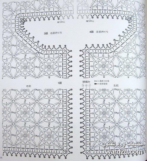 Вязание крючком схемы квадратных мотивов безотрывное вязание