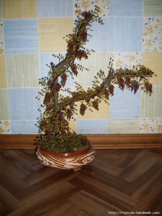Виноградное дерево из бисера. Мастер-класс (7) (525x700, 262Kb)