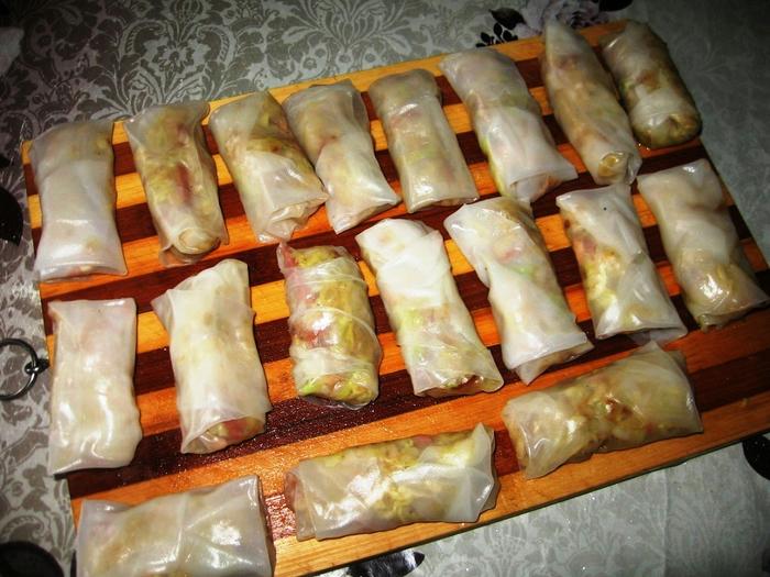 Рулеты с рисовой бумагой рецепт с