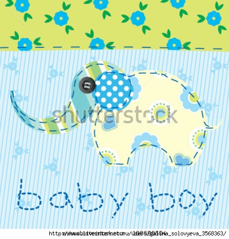 stock-vector-baby-boy-blue-patchwork-with-elephant-168596504 (450x470, 146Kb)